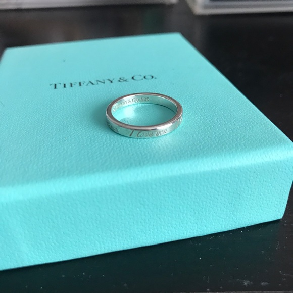 "Tiffany & Co Notes ""I Love You"" ring - 5.5"